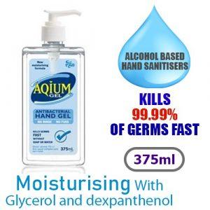 Aqium Antibacterial Hand Sanitizer 375ml