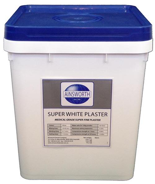 Ainsworth Super White Plaster - Super White Plaster - 20kg pile
