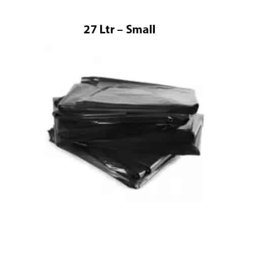 Bin Bag Bin Liner Black 27 Ltr Small - Bin Bag/Bin Liner - Black - (27 Ltr – Small) - 50Bag/Roll