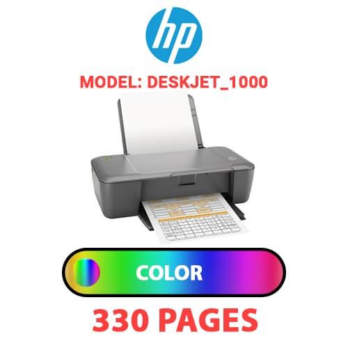 Deskjet 1000 1 - HP Deskjet_1000 - COLOR INK