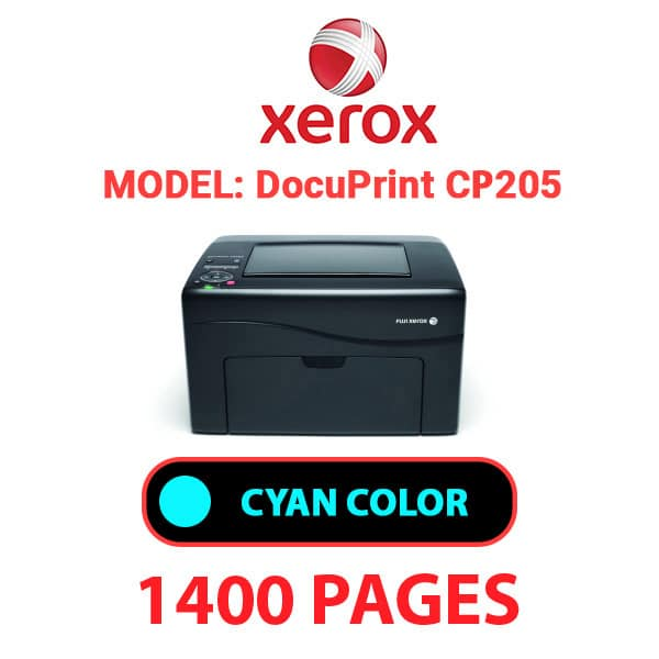 DocuPrint CP205 4 - XEROX DocuPrint CP205 - Cyan Toner Cartridge