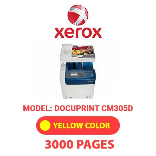 DocuPrintCM305D 3 - XEROX DocuPrintCM305D - Yellow Toner Cartridge