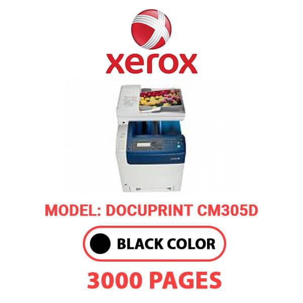 DocuPrintCM305D - XEROX DocuPrintCM305D - Black Toner Cartridge