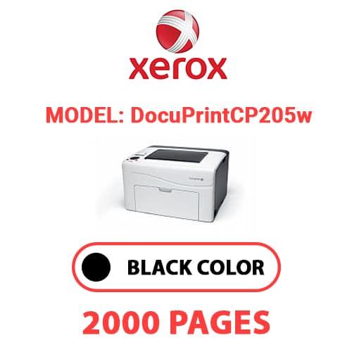 DocuPrintCP205w - XEROX DocuPrint CP205w - Black Toner Cartridge