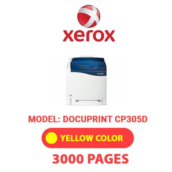 DocuPrintCP305D 3 - XEROX DocuPrintCP305D - Yellow Toner Cartridge
