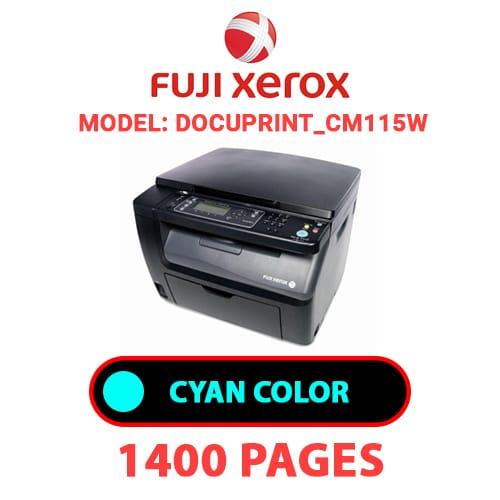 DocuPrint CM115W 1 - FUJI XEROX DocuPrint_CM115W -  CYAN TONER