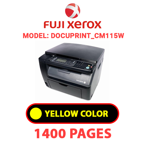 DocuPrint CM115W 3 - FUJI XEROX DocuPrint_CM115W -  YELLOW TONER