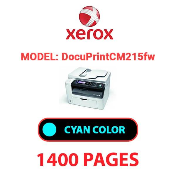 DocuPrint CM215fw 2 - XEROX DocuPrint CM215fw - Cyan Toner Cartridge