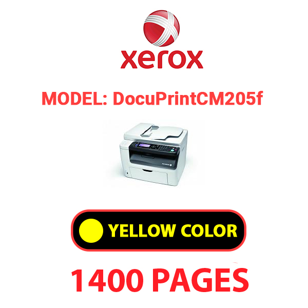 Docuprint CM205f 1 - XEROX DocuPrint CM205f - Yellow Toner Cartridge