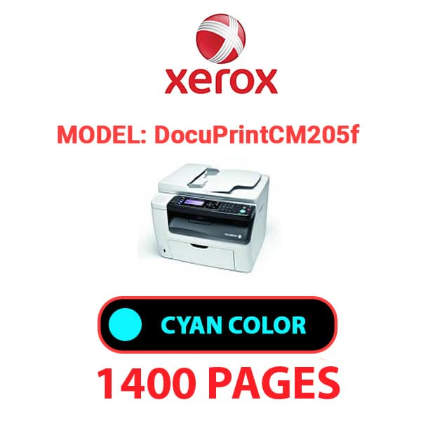 Docuprint CM205f 2 - XEROX DocuPrint CM205f -Cyan Toner Cartridge