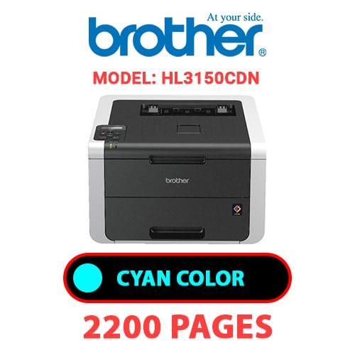HL3150CDN 1 - BROTHER HL3150CDN - CYAN TONER