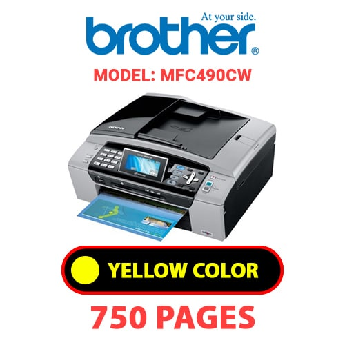 MFC490CW 2 - BROTHER MFC490CW - YELLOW INK