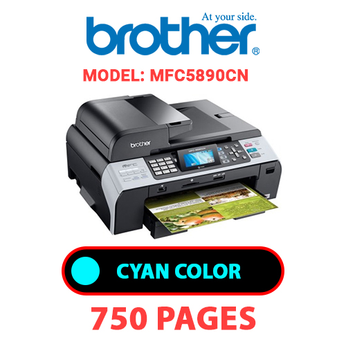MFC5890CN 1 - BROTHER MFC5890CN - CYAN INK