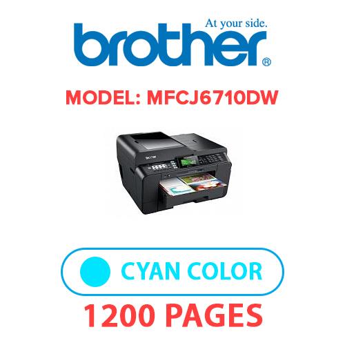 MFCJ6710DW 1 - BROTHER MFCJ6710DW PRINTER - CYAN INK