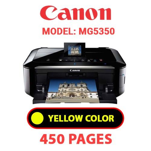 MG5350 4 - CANON MG5350 PRINTER - YELLOW INK