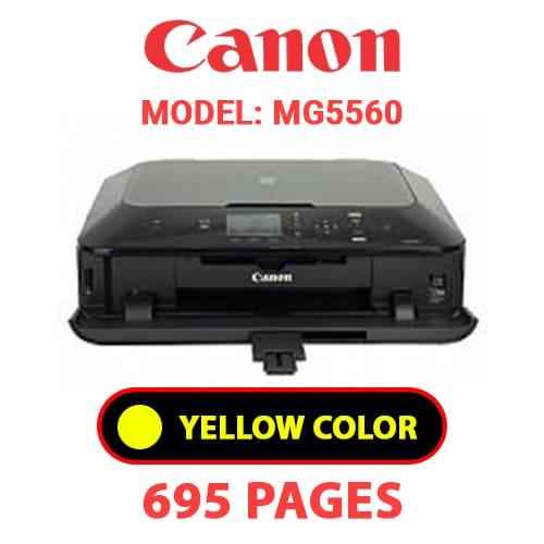 MG5560 5 - CANON MG5560 PRINTER - YELLOW INK