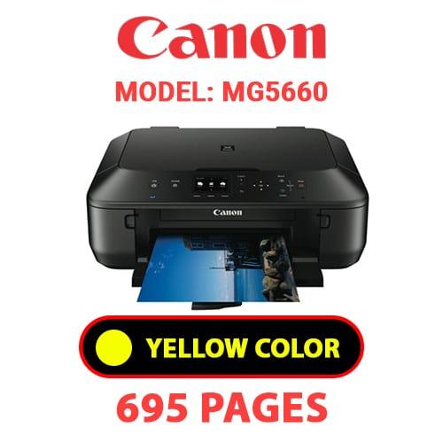 MG5660 5 - CANON MG5660 PRINTER - YELLOW INK