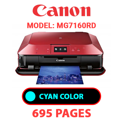 MG7160RD 2 - CANON MG7160RD PRINTER - CYAN INK