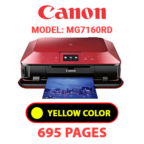 MG7160RD 3 - CANON MG7160RD PRINTER - YELLOW INK