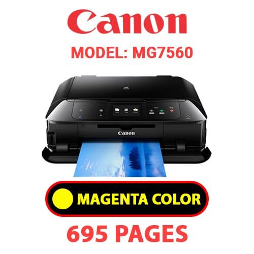MG7560 4 - CANON MG7560 PRINTER - YELLOW INK