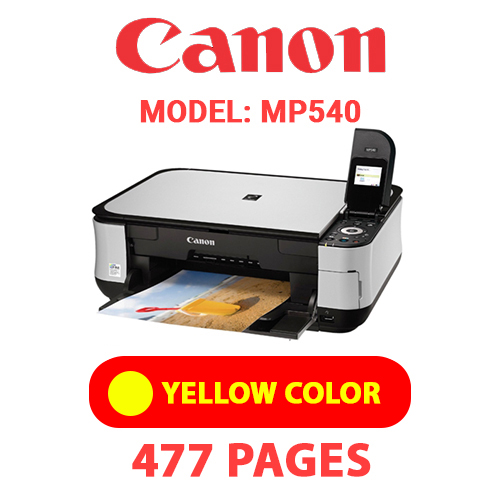 MP540 5 - CANON MP540 PRINTER - YELLOW INK