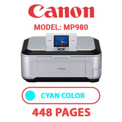 MP980 2 - CANON MP980 PRINTER - CYAN INK