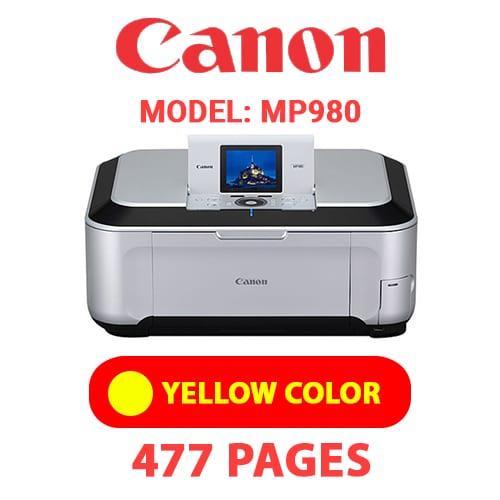 MP980 6 - CANON MP980 PRINTER - YELLOW INK