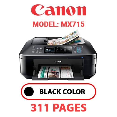 MX715 - CANON MX715 PRINTER - BLACK INK