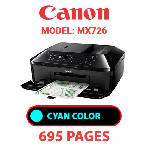 MX726 2 - CANON MX726 PRINTER - CYAN INK