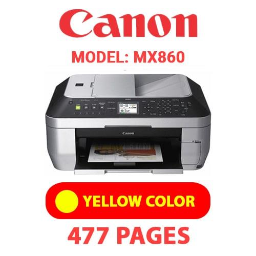 MX860 5 - CANON MX860 PRINTER - YELLOW INK