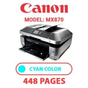 MX870 2 - Canon Printer