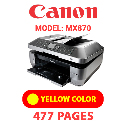 MX870 5 - CANON MX870 PRINTER - YELLOW INK