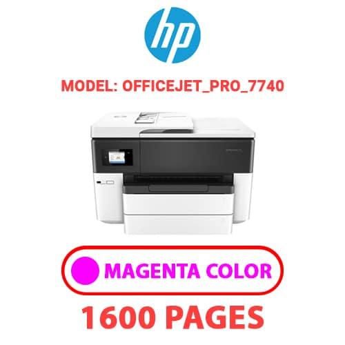 OfficeJet Pro 7740 2 - HP OfficeJet_Pro_7740 - MAGENTA INK