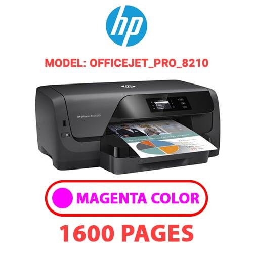 OfficeJet Pro 8210 2 - HP OfficeJet_Pro_8210 - MAGENTA INK
