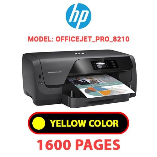OfficeJet Pro 8210 3 - HP OfficeJet_Pro_8210 - YELLOW INK