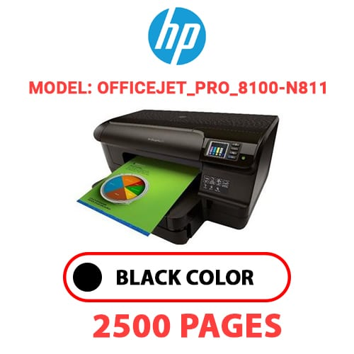 Officejet Pro 8100 N811 - HP Officejet_Pro_8100-N811 - BLACK INK