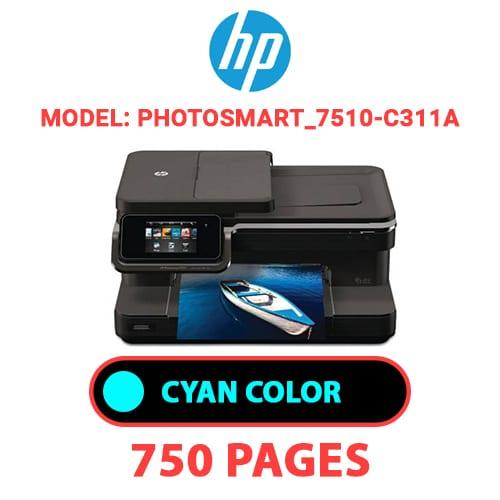 Photosmart 7510 C311a 2 - HP Photosmart_7510-C311a - CYAN INK