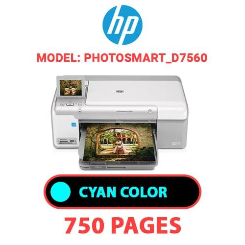 Photosmart D7560 2 - HP Photosmart_D7560 - CYAN INK