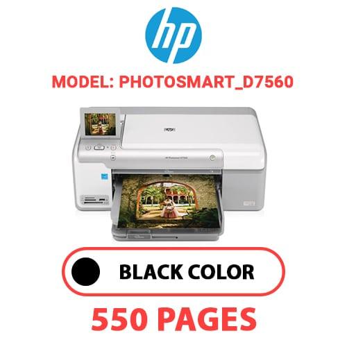 Photosmart D7560 - HP Photosmart_D7560 - BLACK INK
