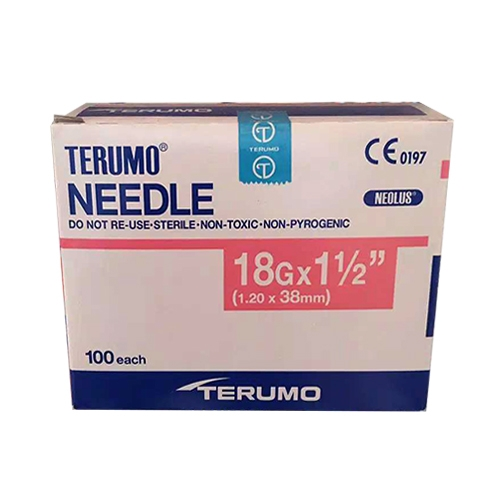 Picture 2020 08 18 08.32.25 - Hypodermic Needles For Irrigation(Terumo) 18G (1.20 X 38mm) - (100/box)