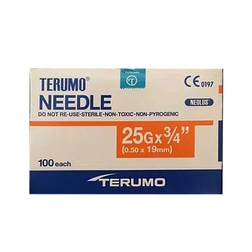 Picture 2020 08 18 08.32.28 - Hypodermic Needles For Irrigation(Terumo) 25G (0.50 x 19mm) - (100/box)