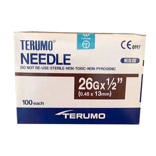 Picture 2020 08 18 08.32.31 - Hypodermic Needles For Irrigation(Terumo) 26G (0.45 x 13mm)  - (100/box)