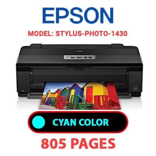 STYLUS PHOTO 1430 2 - EPSON STYLUS-PHOTO-1430 - CYAN (BLUE) INK