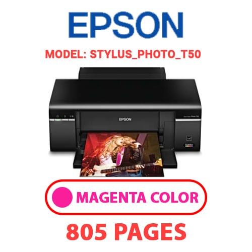STYLUS PHOTO T50 2 - EPSON STYLUS_PHOTO_T50 - MAGENTA (RED) INK