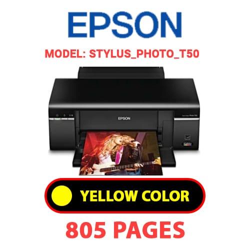 STYLUS PHOTO T50 3 - EPSON STYLUS_PHOTO_T50 - YELLOW INK