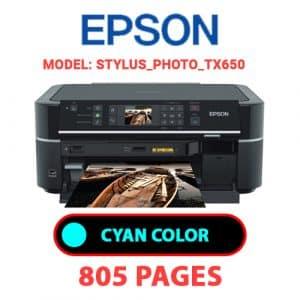 STYLUS PHOTO TX650 1 - Epson Printer