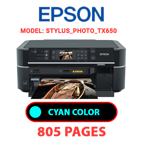 STYLUS PHOTO TX650 1 - EPSON STYLUS_PHOTO_TX650 - CYAN (BLUE) INK