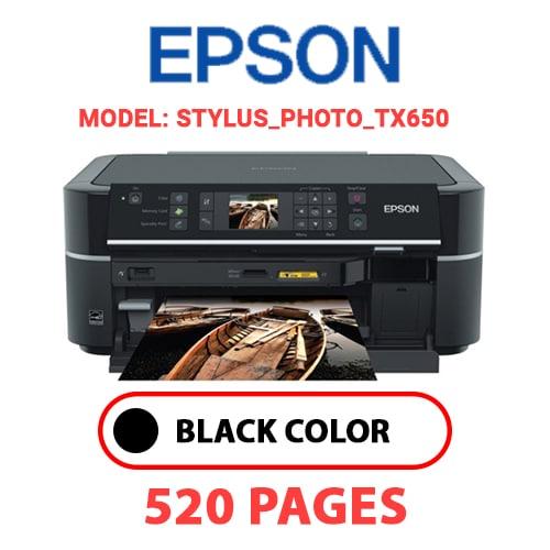 STYLUS PHOTO TX650 - EPSON STYLUS_PHOTO_TX650 - BLACK INK