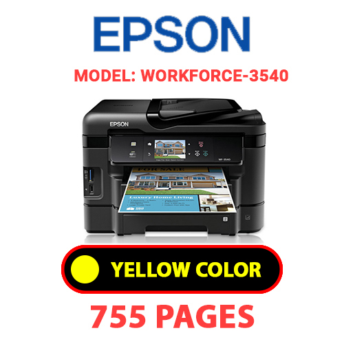 Workforce 3540 8 - EPSON Workforce_3540 - YELLOW INK