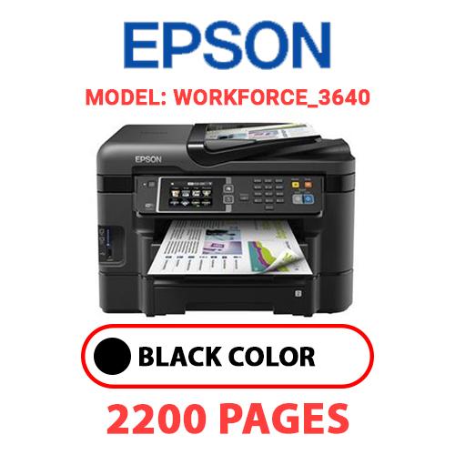 Workforce 3640 - EPSON Workforce_3640 - BLACK INK